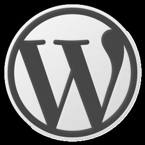 WordPress logo gray