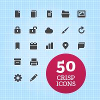 50 иконок web-интерфейса