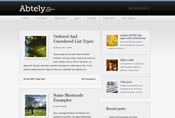 Тема Abtely для WordPress