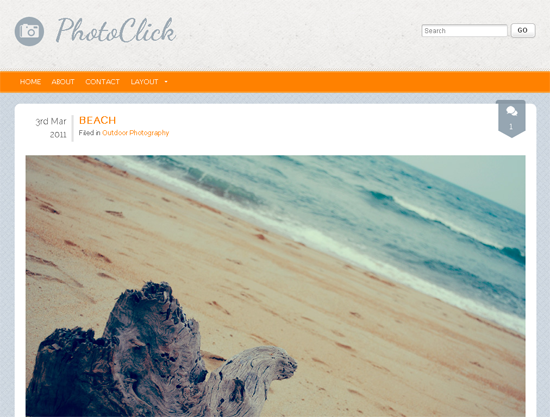 Тема для WordPress - PhotoClick