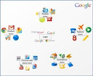 Большой набор иконок google приложений