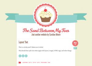 Тема для WordPress - Buttercream
