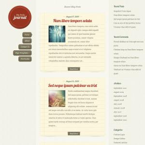 Тема для WordPress - DailyJournal
