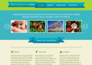 Тема для WordPress - Mendeleviumoid