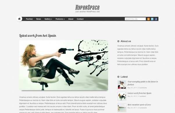 Тема для WordPress - HYPERSPACE