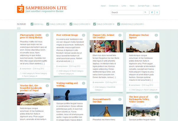 Тема для WordPress – Sampression Lite