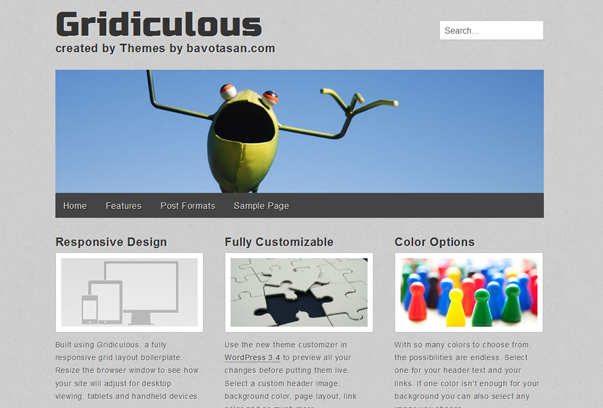 Тема для WordPress – Gridiculous