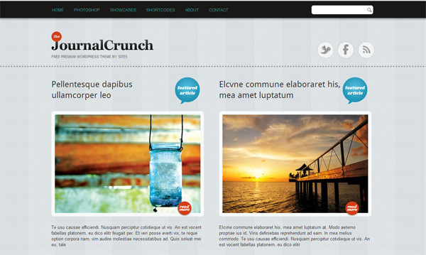 Тема для WordPress – JournalCrunch