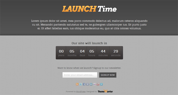 Тема для WordPress – LaunchTime
