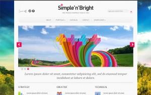 Тема для WordPress – SimpleBright