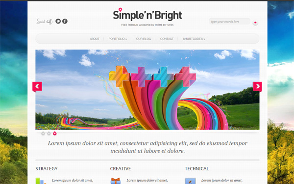 Тема для WordPress – SimpleBright