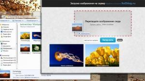 HTML5 Drag and Drop загрузчик изображений
