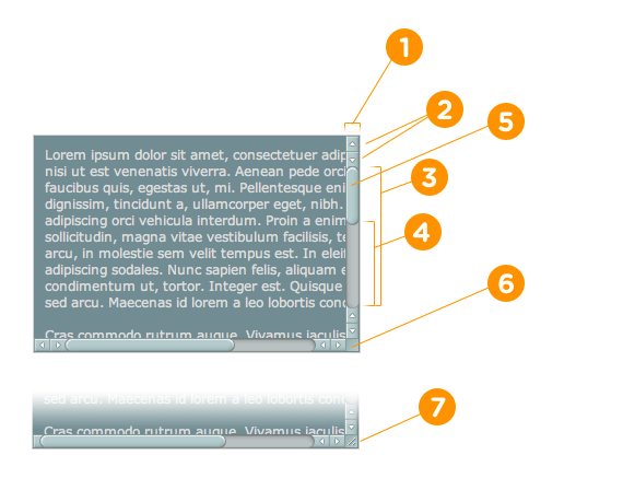 псевдоэлементы CSS для настройки полос прокрутки
