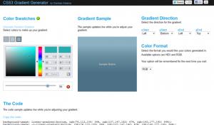 Генератор линейного градиента на CSS3