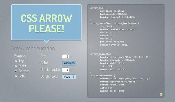 CSS Arrow Please - всплывающие подсказки средствами CSS