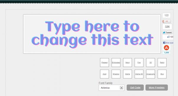 Text-shadow generator - генератор эффектов для текста