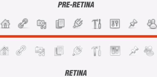 Поддержка Retina дисплеев
