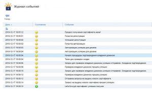 Журнал получения сертификата SSL