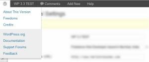 Admin Bar Wordpres 3.3