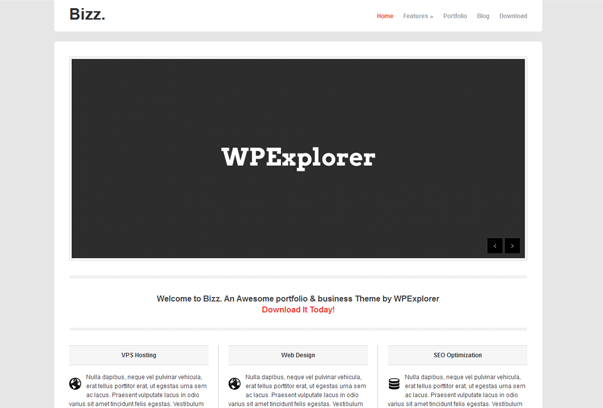 Тема для WordPress - Bizz