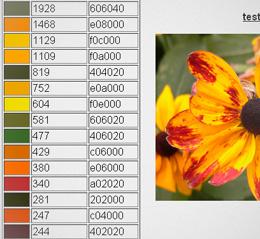 Самые распространенные цвета в изображении
