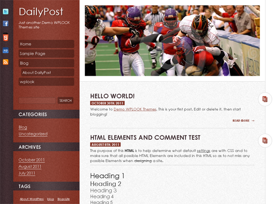 Тема для WordPress - dailypost