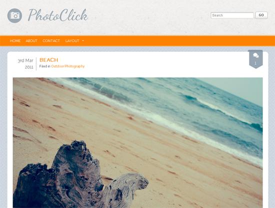 Тема для WordPress - PhotoClick