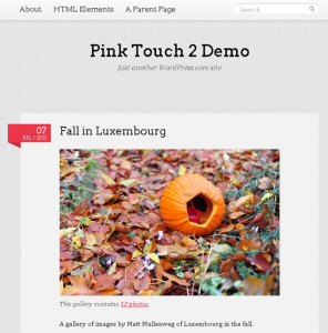 Тема для WordPress - Pink Touch 2