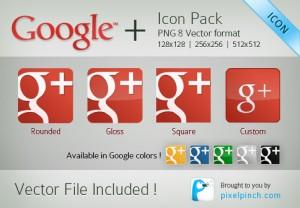 Красные Google+ иконки скачать