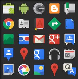 Иконки сервисов и приложений Google
