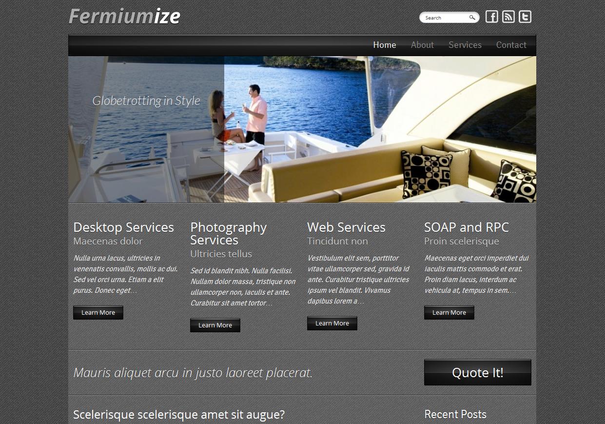 Тема для WordPress - Fermiumize