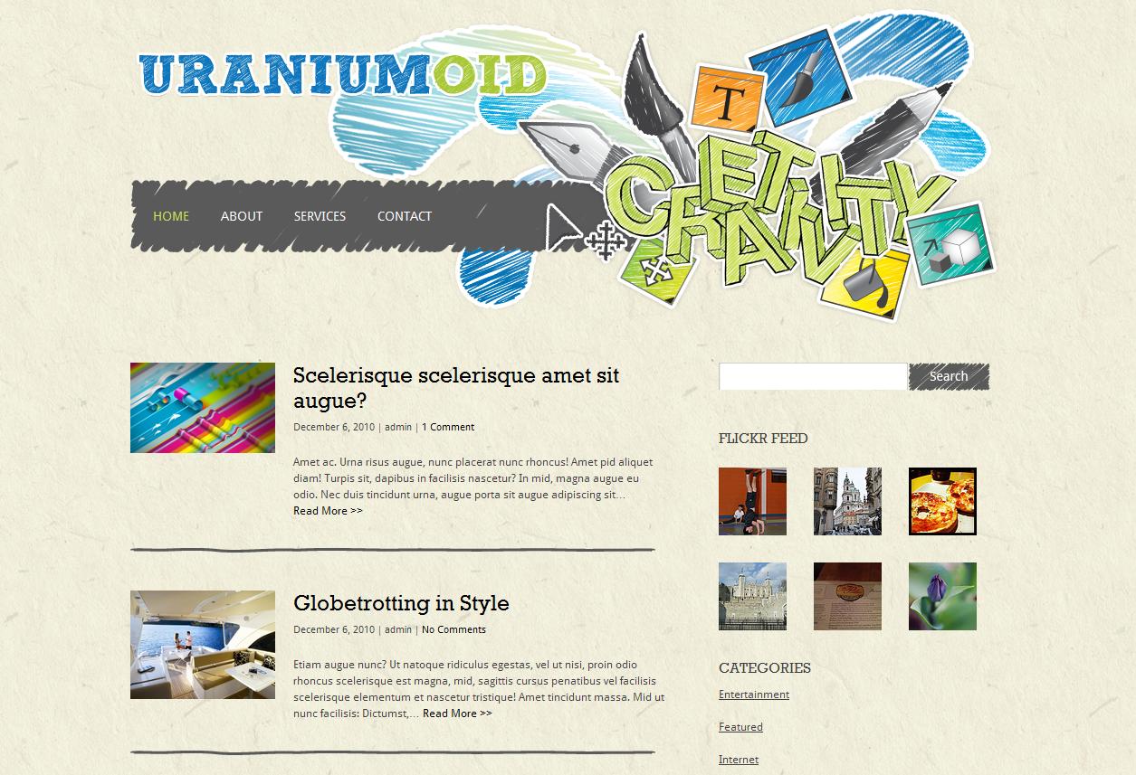 Тема для WordPress - Uraniumoid