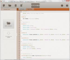Текстовый редактор LESS – Crunch