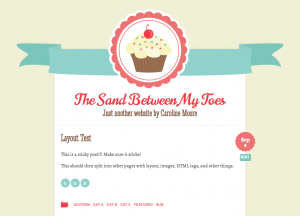Тема для WordPress - Buttercream