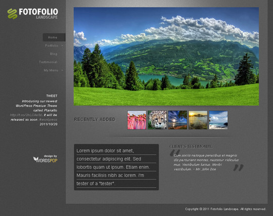Тема для WordPress - Fotofolio Landscape