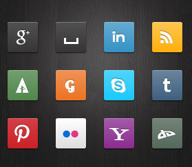 Кнопки социальных сетей на CSS3