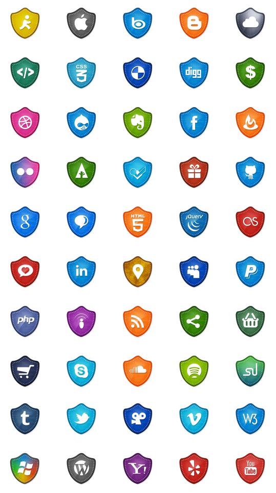 50 социальных медиа иконок