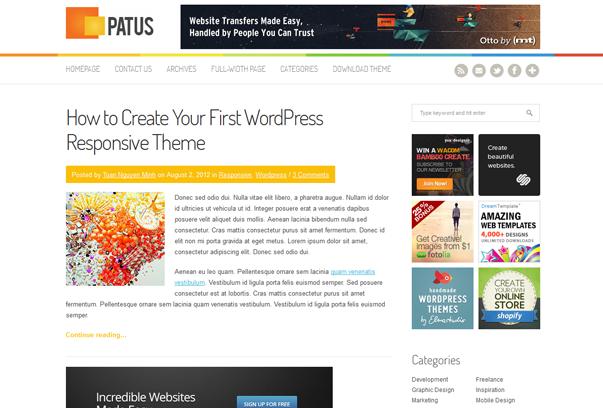 Тема для WordPress - Patus