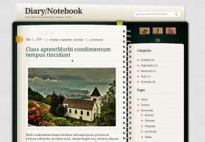 Тема для WordPress – Diary/Notebook