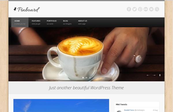 Тема для WordPress – Pinboard