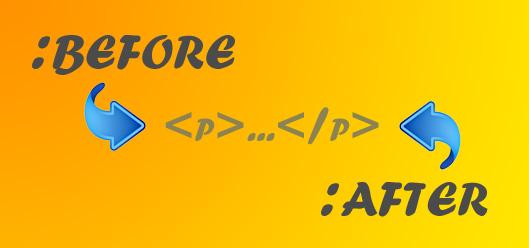 Псевдоэлементы :before и :after по отношению к элементу