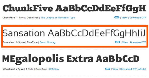 Понравившийся шрифт для сайта