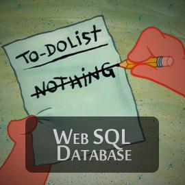 To-Do лист с помощью Web SQL Database
