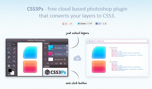 CSS3PS - преобразует слои Photoshop в CSS3